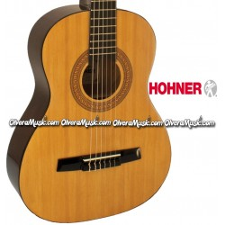 Hohner Student 3 4 Size Classical Acoustic Guitar Natural Gloss Finish Olvera Music