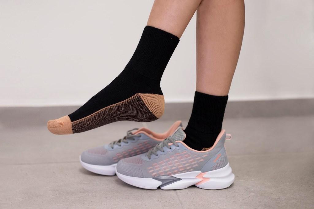 Eculage diabetics socks black