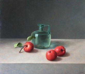 Romeinse glas kan met appels 60 x 70