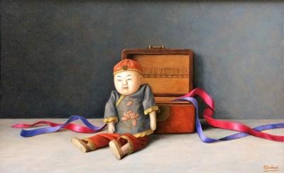 Oud Chinees speelpopje 35 x 57