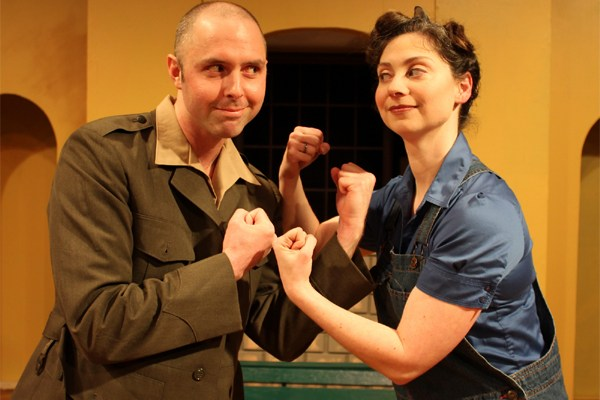 Brian Jansen and Kathryn Philbrook in Much Ado About Nothing at OLT