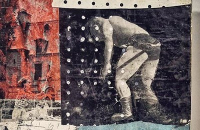 """""""Turnbuckle,"""" collage by Evan Horback"""