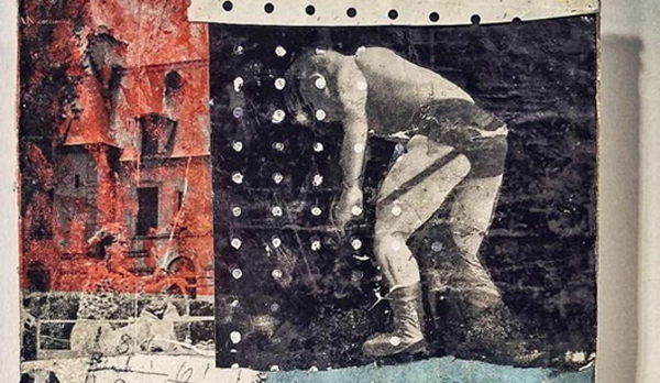 """Turnbuckle,"" collage by Evan Horback"