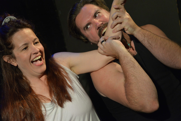 Debbie Barho Sampson and Ryan Holmberg in TAO's An Improbable Peck of Plays