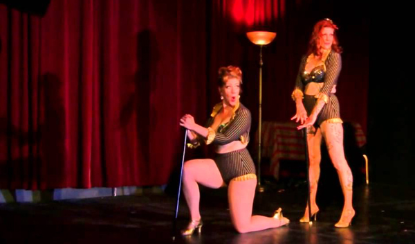 Ms. Hattie Hotpants and Bettie Beelzebub, performing as The Red Rockets