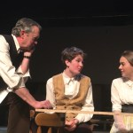 Our Town cast members Brian Tyrrell, Clarke Hallum and McKenna Soderberg