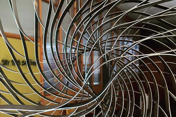 """""""Coriolis,"""" sculpture by Cyrra Robinson, photo by the artist"""
