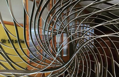 """Coriolis,"" sculpture by Cyrra Robinson, photo by the artist"