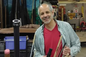Jerry Berebitsky in The Evergreen State College's scene shop