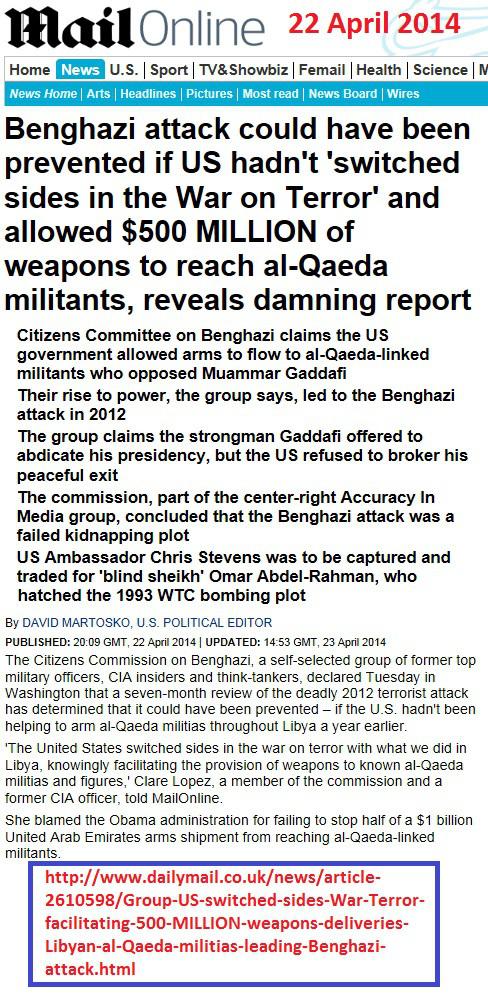 ΝΤΟΚΟΥΜΕΝΤΑ-Οι Κλίντον πούλησαν όπλα στους Τρομοκράτες που απειλούν την Παγκόσμια ισορροπία