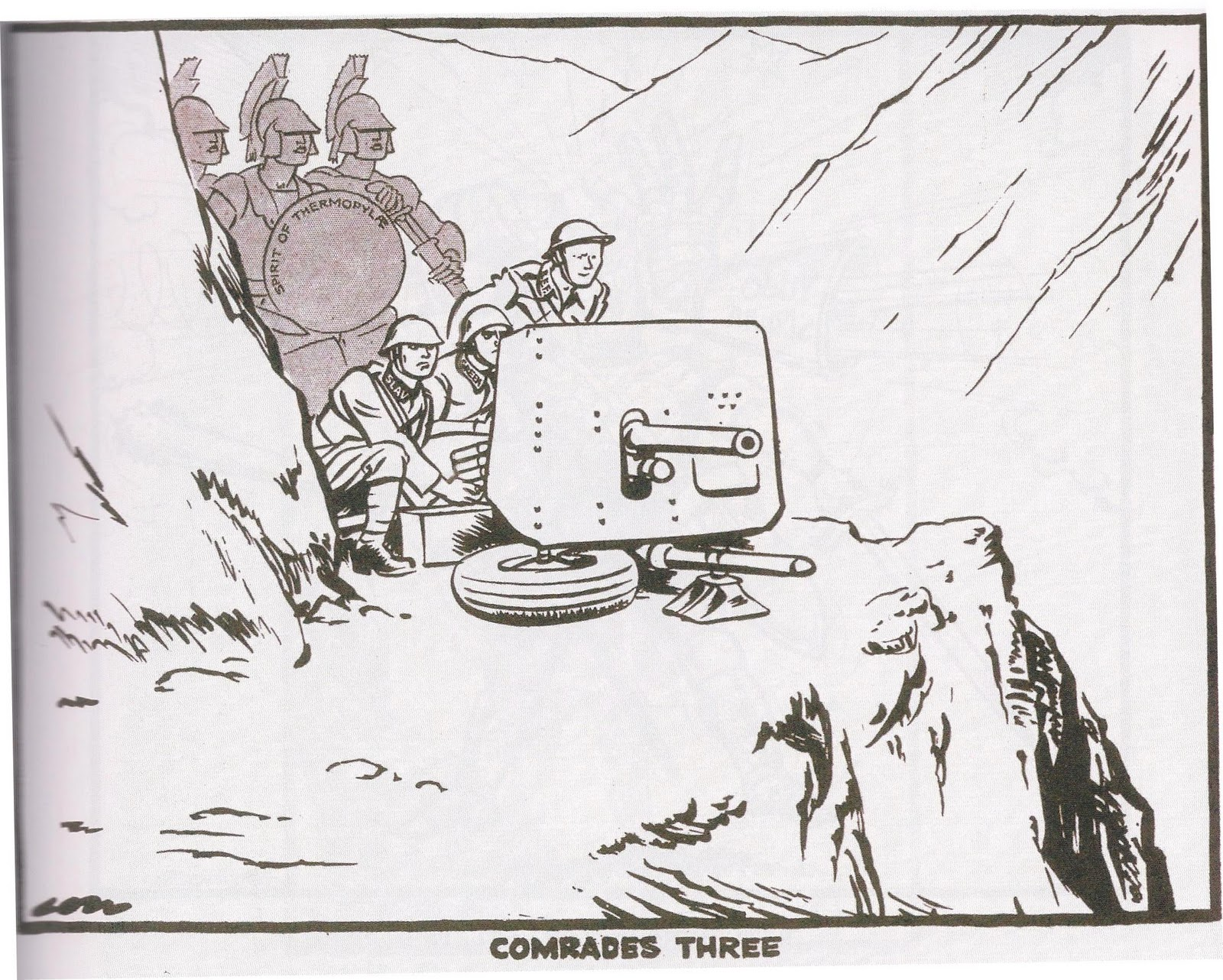Γελοιογραφίες εποχής του Έπους του '40 #28ηΟκτωβριου #parelasi 1940 – ΚΟΡΟΙΔΟ ΜΟΥΣΟΛΙΝΙ
