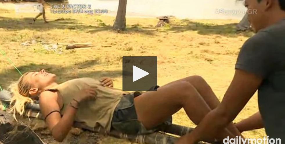 #survivorGr Το τετ α τετ του Σπαλιαρα με τη Λαουρα…..