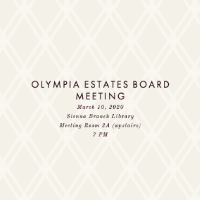 Board of Directors Meets March 10th