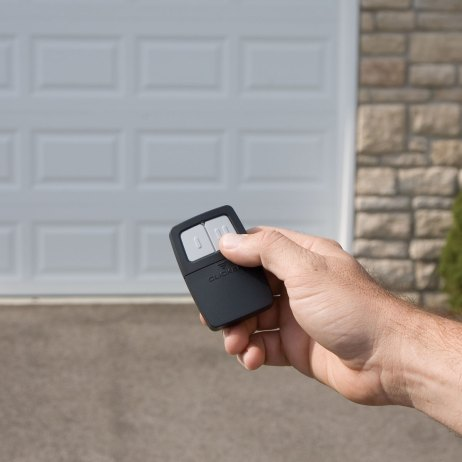opening garage door with remote