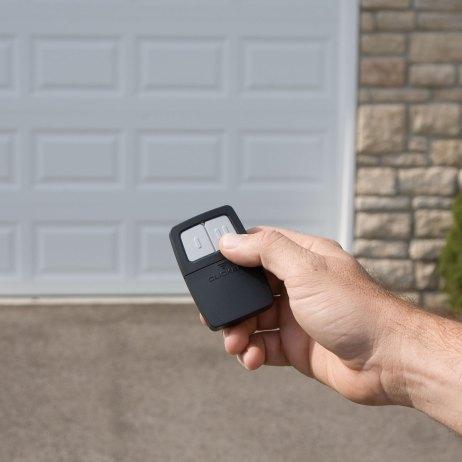 opening garage door with remote