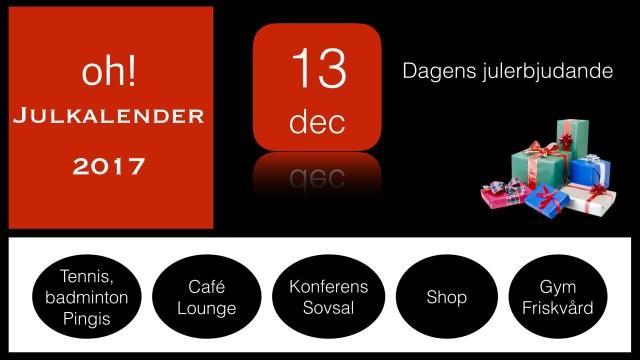 oh! Julkalender 13e december 2017 – dagens lucköppning med oh! Café Lucia erbjudande