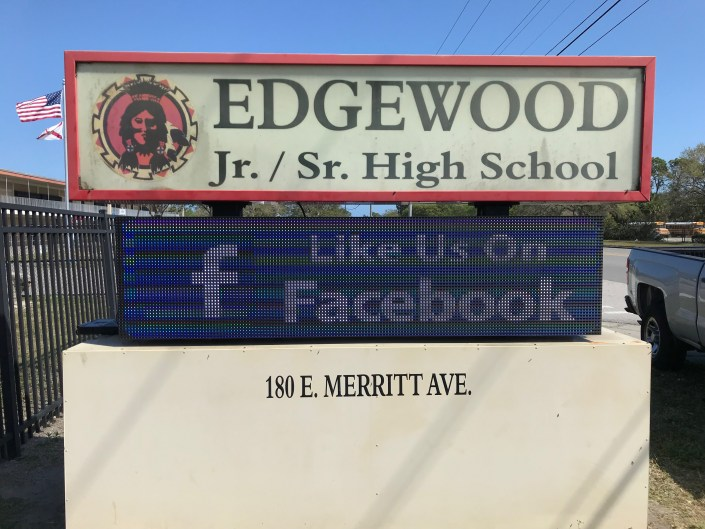 Edgewood Jr/Sr High School LED Sign
