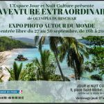 L'AVENTURE EXTRAORDINAIRE, expo photo en sept 2018