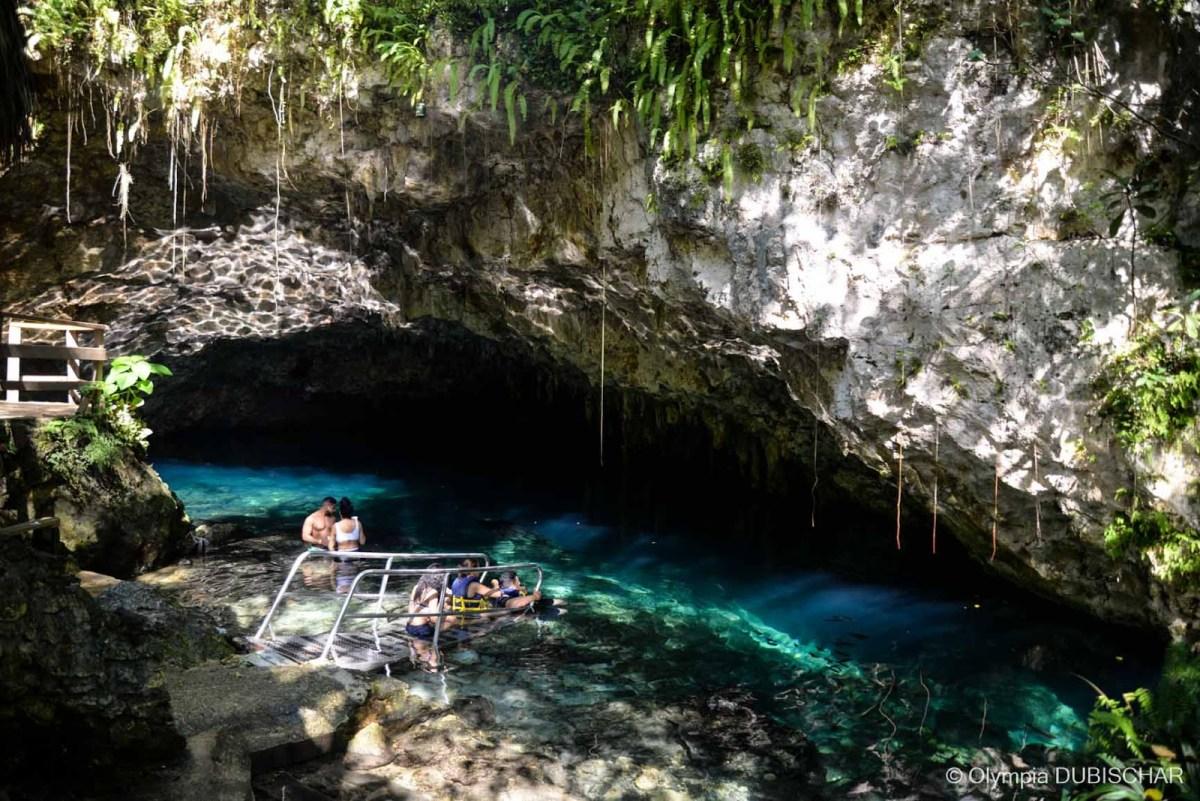 Laguna cenote Cabrera Dominicaine Circuit plages excursions