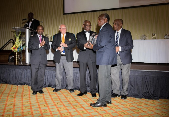 Jim Wedderburn receiving milestone award for being first Barbadian olympic medal winner in 1960