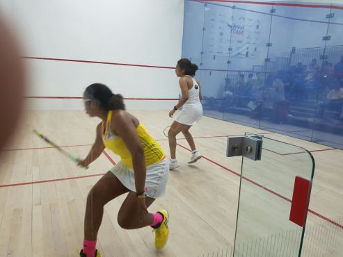 Barbadian squash sensation, Meagan Best, caused a spectacular upset on Day 2 of the 24th Caribbean Senior Squash Championship