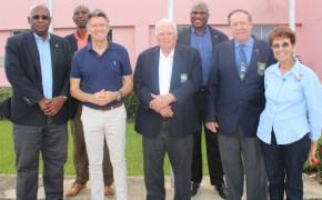 IAAF President Lord Coe visits Barbados Olympic Association Inc.