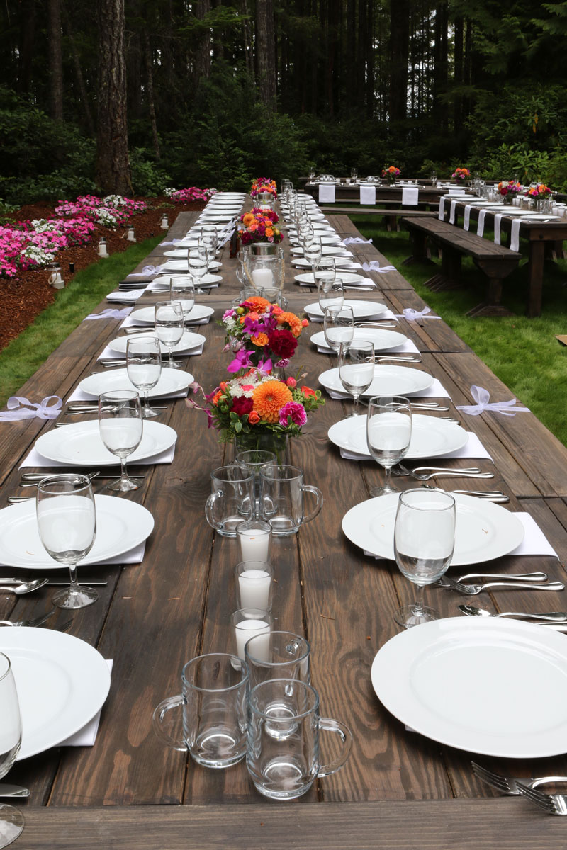 Farm Table Bench Chair Rentals Olympic Farm Style Events