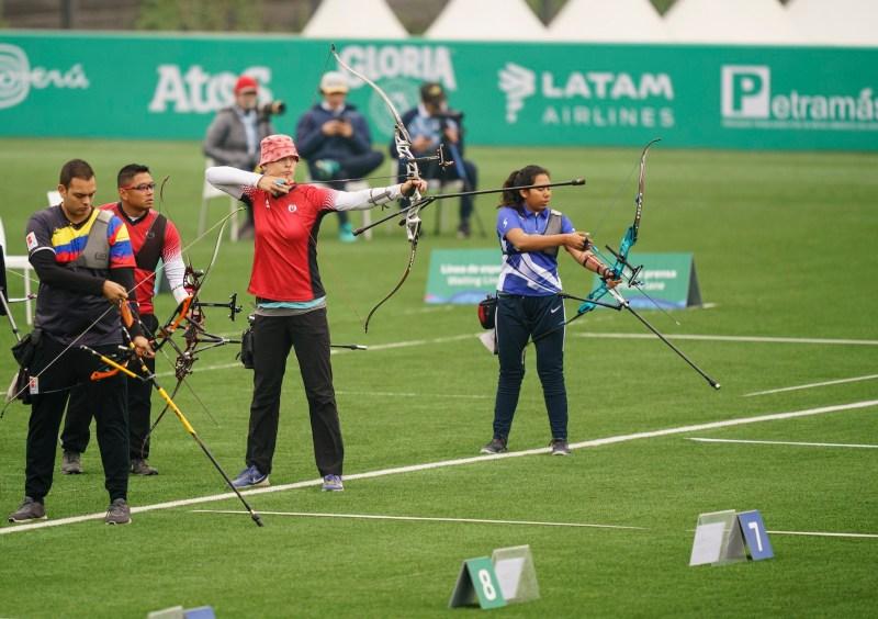 Archery athlete getting ready