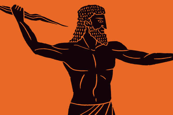 Image result for ancient greek pot with zeus