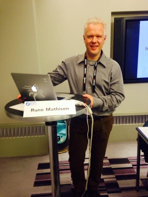 Rune Mathisen klar til sesjon om simuleringer i teknologiundervisningen på Online Educa 2014
