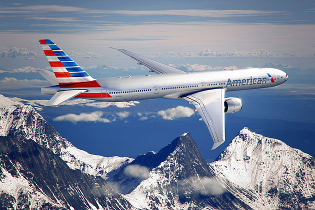 American Airlines new logo on planes
