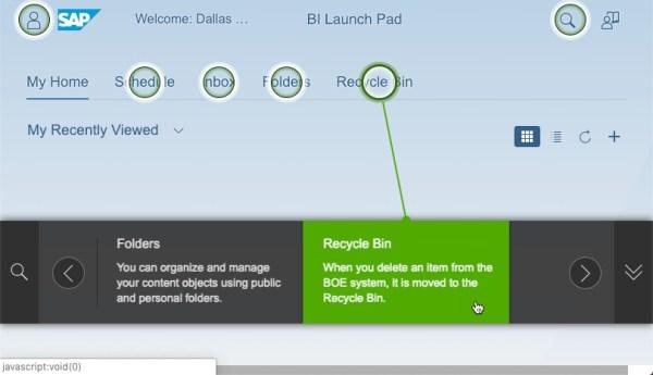 SAP BI 4.2 SP6 Fiori Launch Pad