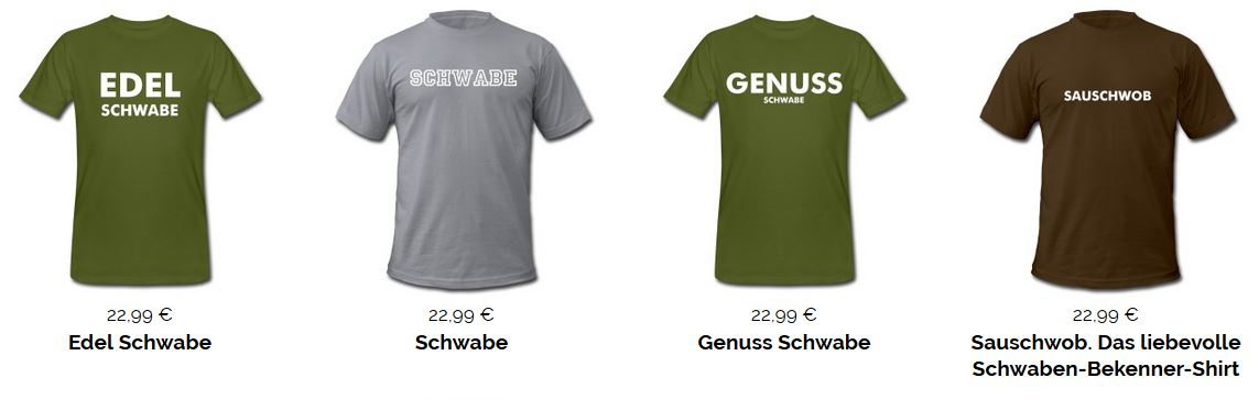 Schwaben T-Shirts Kollektion