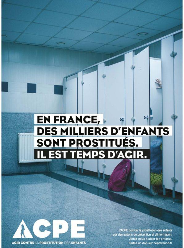 Image choc de la dernière campagne de prévention menée par l'ACPE qui agit contre la prostitution des enfants.