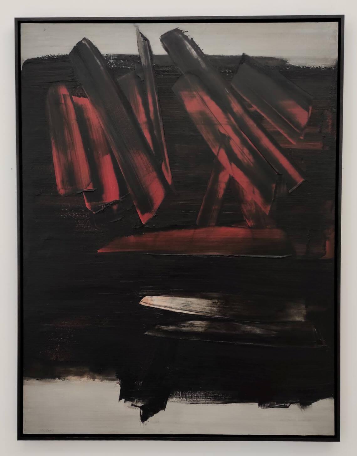 Soulages - peinture dépassant la somme record de 10 millions de dollars.
