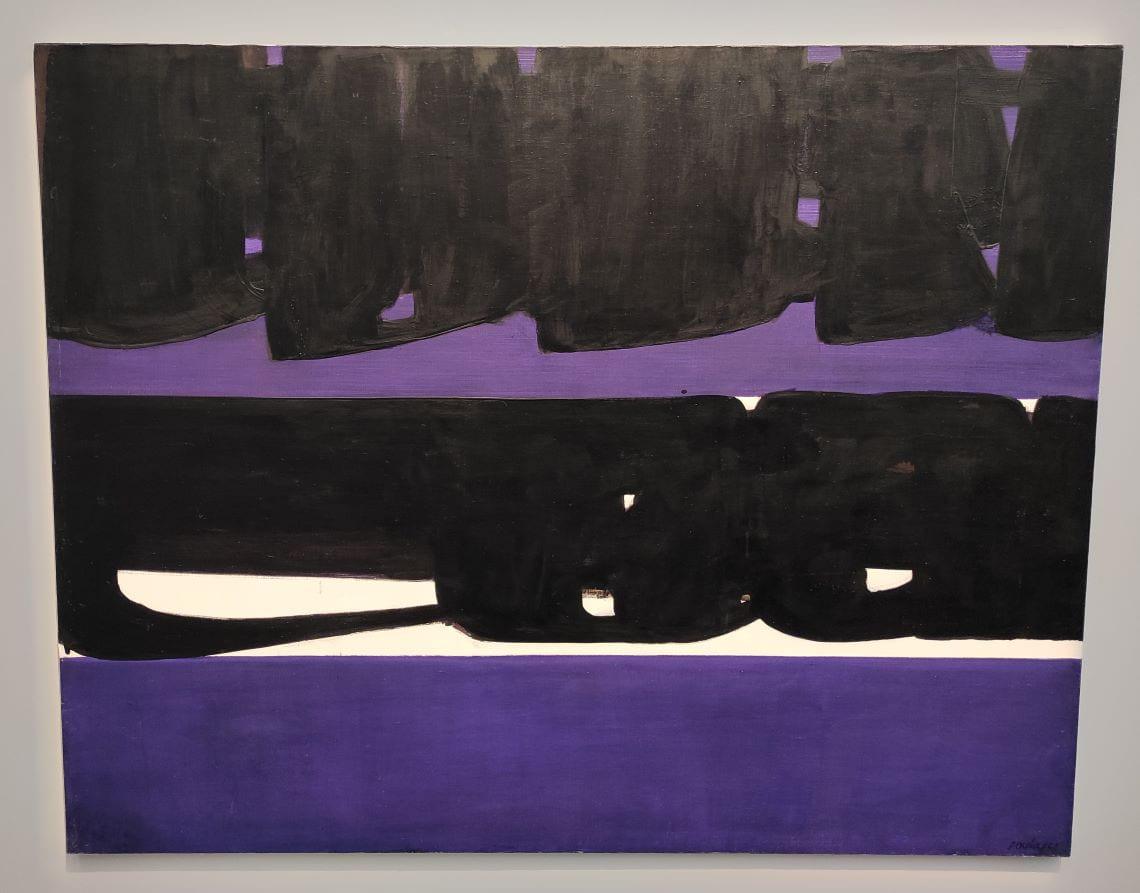 Soulages, Peinture 159 x 202 cm, 28 novembre 1970, huile sur toile