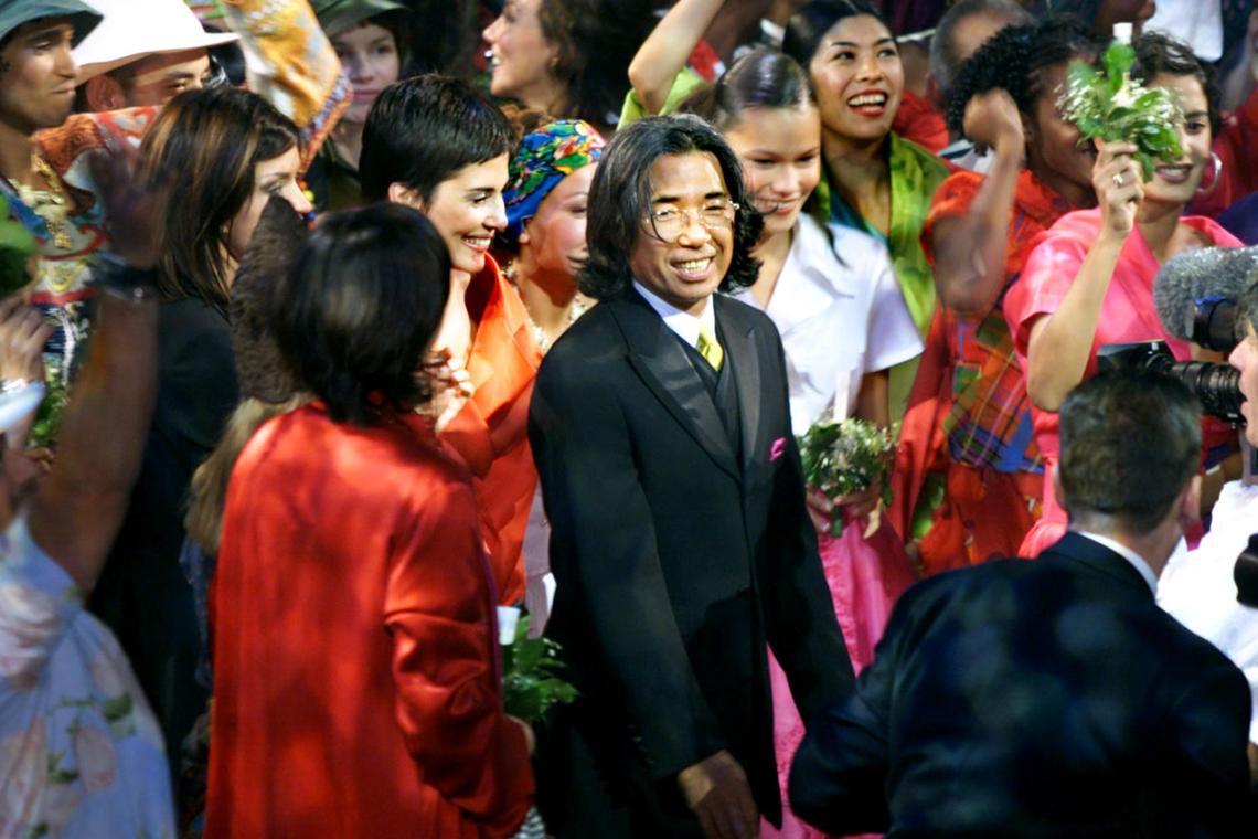 Kenzo Takada pour un défilé pour sa collection
