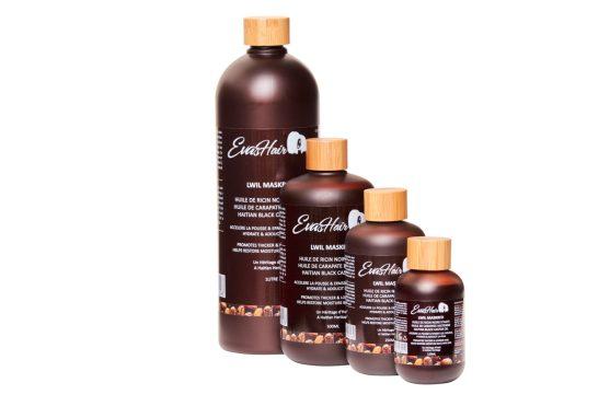 L'huile de ricin noir haïtien pour des cheveux en bonne santé;
