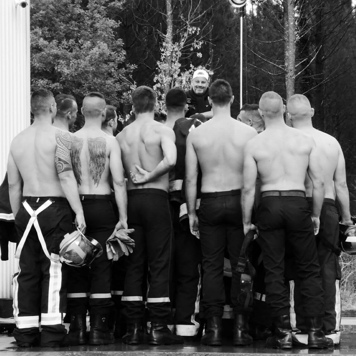 making-of du calendrier des pompiers - Fred Goudon