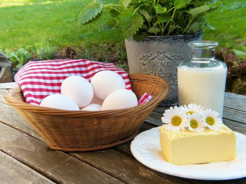 calcium - œufs et beurre