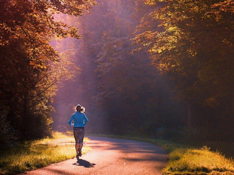 Courir dans un bois