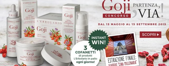 Concorso L'Erbolario: Goji - Partenza, via!