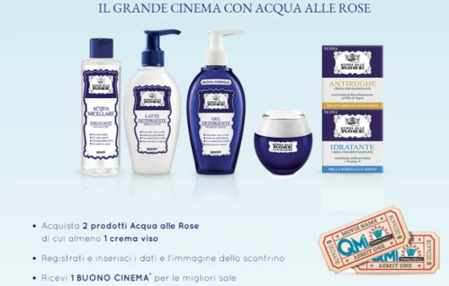 Il grande cinema con Acqua alle Rose