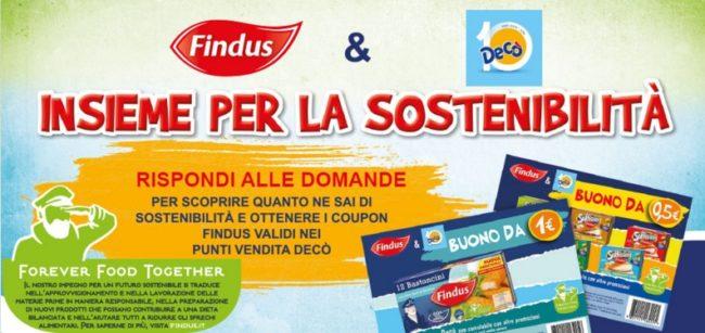 Findus & Decò Insieme per la sostenibilità: stampa i coupon!