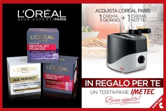 L'Oréal Paris ti regala un risveglio scattante: tostapane in omaggio