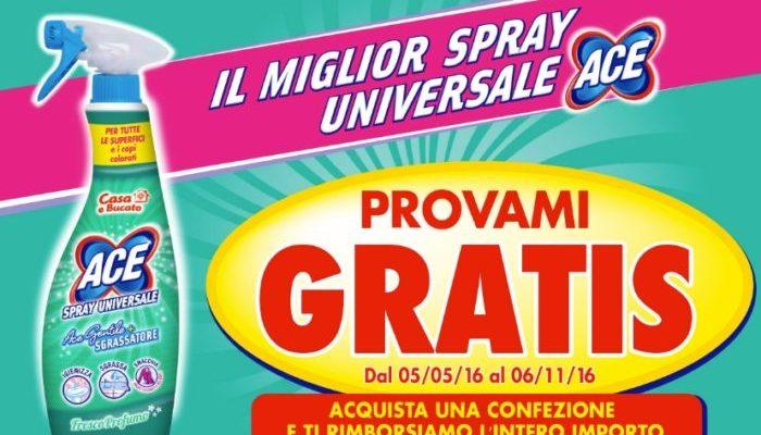 ACE Spray Universale – PROVAMI GRATIS: spendi e riprendi!
