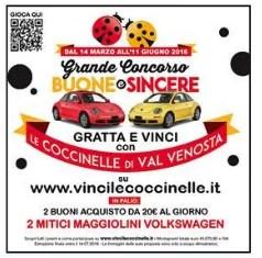 Concorso Buone e Sincere Val Venosta: vinci buoni acquisto e maggiolini Volkswagen
