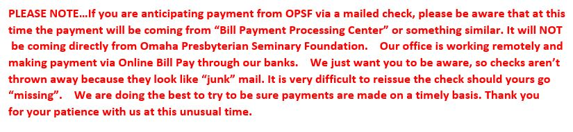 office note on payments