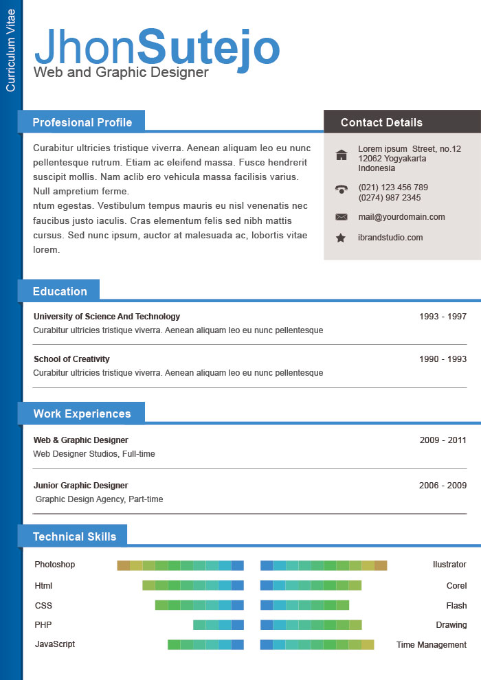 free one page resume template gopitch co. single page resume ...