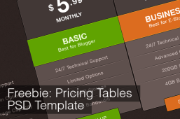 Free Download Pricing Tables